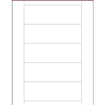 """Plastic Label Holder Insert Cards, 2"""" x 6"""", White, 250/CS"""