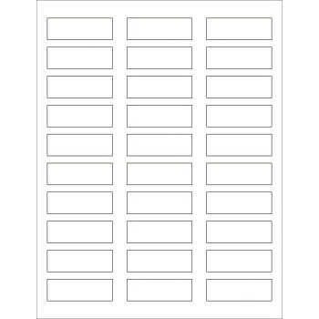 "White Rectangular Laser Labels, 2 1/4"" x 3/4"", White 3000/CS"