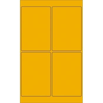 "Tape Logic® Rectangle Laser Labels, 4"" x 6"", Fluorescent Orange, 400/CS"