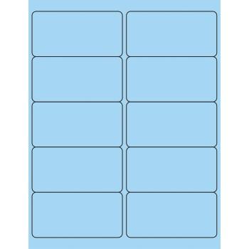 "Tape Logic® Removable Rectangle Laser Labels, 4"" x 2"", Pastel Blue, 1000/CS"