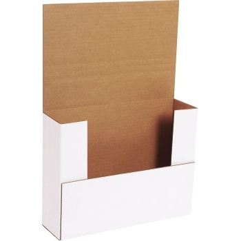 """Easy-Fold Mailers, 11"""" x 8 1/2"""" x 3"""", White, 50/BD"""