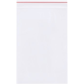 """4 Mil Reclosable Poly Bags, 6"""" x 6"""", Clear, 1000/CS"""
