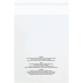 "W.B. Mason Co. Resealable Suffocation Warning Bags, 16"" x 20"", Clear, 500/CS"