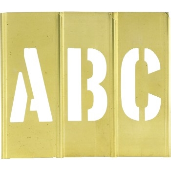 "W.B. Mason Co. Brass Stencils, Letter/Number, 2"", Brass, 45/CS"