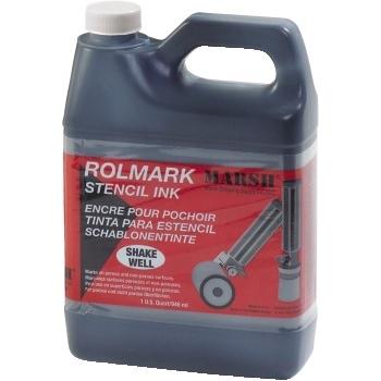 Marsh® Rolmark Quart of Ink, Black