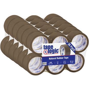 "Tape Logic® Natural Rubber Tape, 2.1 Mil, 2"" x 55 yds., Tan, 36/CS"