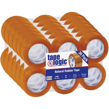 """Tape Logic® Natural Rubber Tape, 2.2 Mil, 2"""" x 110 yds., Clear, 36/CS"""