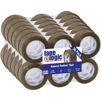 "Tape Logic® Natural Rubber Tape, 2.1 Mil, 2"" x 110 yds., Tan, 36/CS"