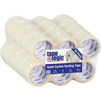 "Tape Logic® 126 Quiet Tape, 2.6 Mil, 3"" x 55 yds., Clear, 24/CS"