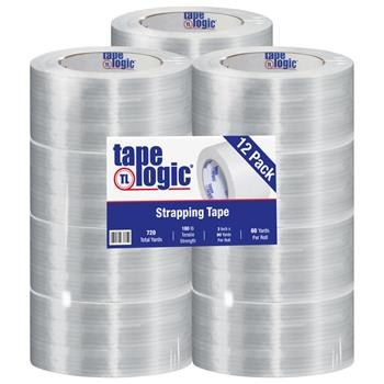 """Tape Logic® 1400 Strapping Tape, 3"""" x 60 yds., Clear, 12/CS"""