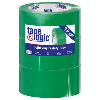 "Tape Logic® Solid Vinyl Safety Tape, 6.0 Mil, 2"" x 36 yds., Green, 3/CS"