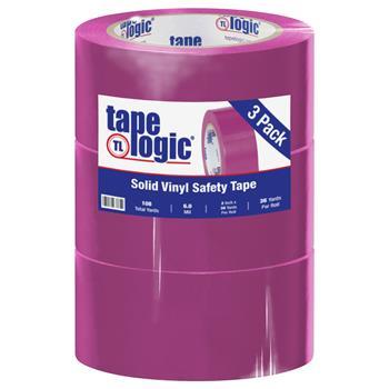 "Tape Logic® Solid Vinyl Safety Tape, 6.0 Mil, 2"" x 36 yds., Purple, 3/CS"