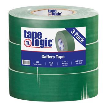 "Tape Logic® Gaffers Tape, 11.0 Mil, 2"" x 60 yds., Green, 3/CS"