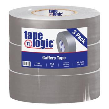 "Tape Logic® Gaffers Tape, 11.0 Mil, 2"" x 60 yds., Gray, 3/CS"