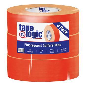 "Tape Logic® Gaffers Tape, 11.0 Mil, 2"" x 50 yds., Fluorescent Orange, 3/CS"