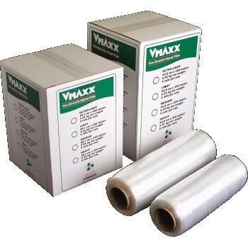 "Malpack VMaxx Pre-Stretched Hand Stretch Film, 17"" x 1476', Medium Gauge, 4/CS"