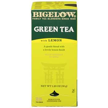 Bigelow® Single Flavor Teas, Green Tea with Lemon, 28/BX