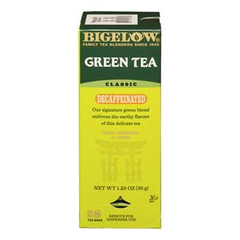 Tea Bags, Green Tea Decaf, 28/BX