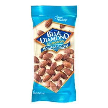 Blue Diamond® Roasted Salted Almonds, 4 oz., 12/BX
