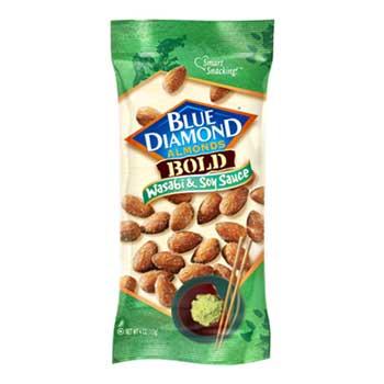 Blue Diamond® Wasabi & Soy Sauce Almonds, 4 oz., 12/BX