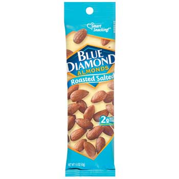 Blue Diamond® Roasted Salted Almonds, 1.5 oz., 12/BX