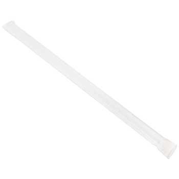 "Bunzl Jumbo Straws, Translucent, Individually Wrapped, 10"", 1600/CT"