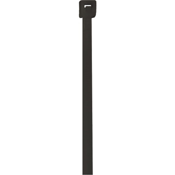 "W.B. Mason Co. UV Cable Ties, 18#, 5 1/2"", Black, 1000/CS"