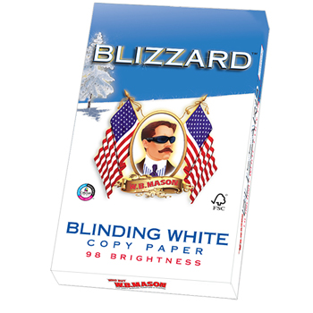 "Blinding White Copy Paper, 8 1/2"" x 14"", 98 Bright, 500/RM"