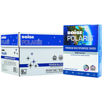 POLARIS® Premium Multipurpose Paper, 97 Bright, 24 lb., 11 x 17, White, 2500/CT
