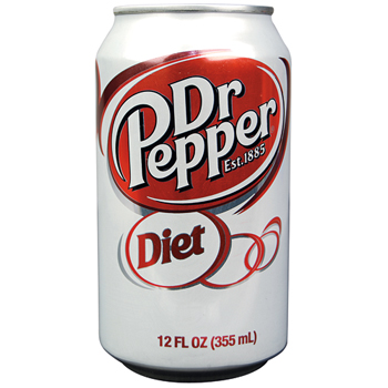 Dr. Pepper® Diet Soda, 12oz Can, 12/PK