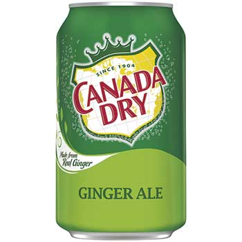 Ginger Ale, 12 oz. Can, 12/PK