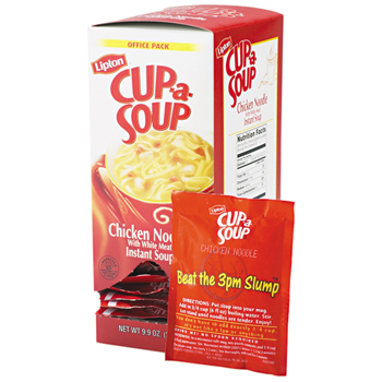 Lipton® Cup-A-Soup®, Chicken Noodle, 0.45 oz. Packet, 22/BX