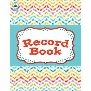 "Carson-Dellosa Publishing Record Book, Chevron, 8.375"" x 10.875"""