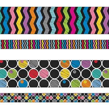 Carson-Dellosa Publishing Colorful Chalkboard Straight Borders