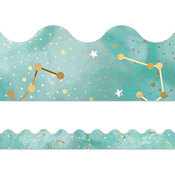 Carson-Dellosa Publishing Galaxy Constellations Scalloped Borders