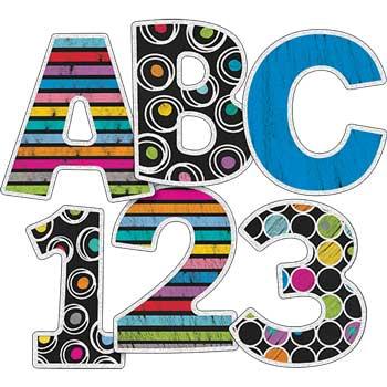 Carson-Dellosa Publishing Colorful Chalkboard EZ Letters