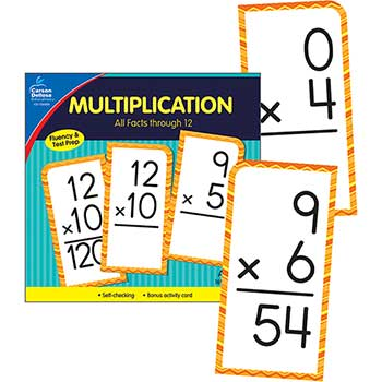 Carson-Dellosa Publishing Multiplication All Facts through 12 Flash Cards, 170/PK
