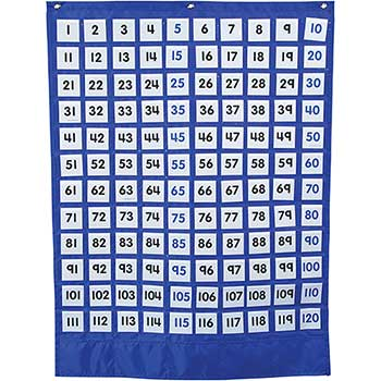 Carson-Dellosa Publishing Numbers 1-120 Board Pocket Chart