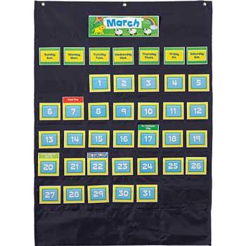 Carson-Dellosa Publishing Deluxe Calendar: Black Pocket Chart