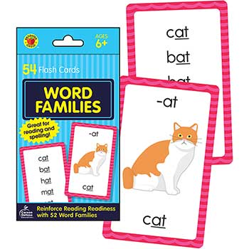 Carson-Dellosa Publishing Brighter Child® Word Families Flash Cards, 54/PK