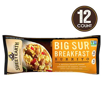 Sweet Earth Big Sur Breakfast Burrito, 7 oz, 12/PK
