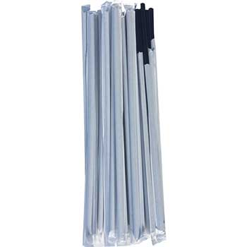 "Cell-O-Core Wrapped Black 7.75"" Jumbo Straw, 5000/CS"