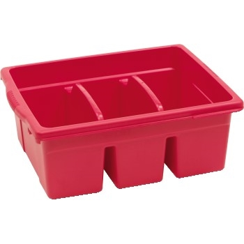 Large Divided Tub, Red