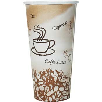 Chef's Supply 16 oz. Hot Cup, Coffee Design, 1000/CT