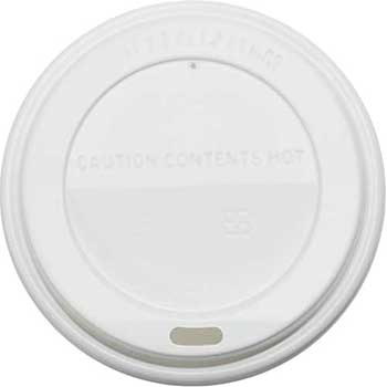 Chef's Supply White Hot Lid for 10 oz. - 24 oz. Cups, 1000/CT