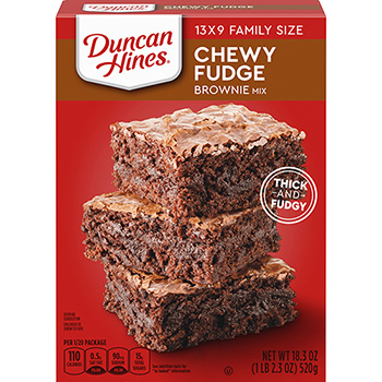 Duncan Hines® Chewy Fudge Full Size Brownie Mix, Family Size, 18.3 oz