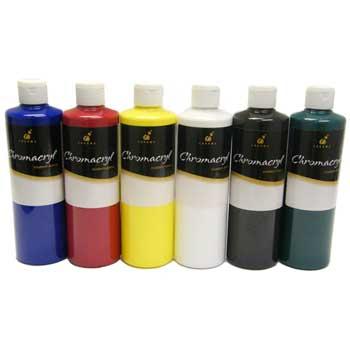 Chromacryl® Students' Acrylic Paint Set, Cool Assortment, Pint, 6/PK