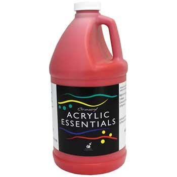 Chroma Chromacryl® Acrylic Essentials Paint, 1/2 Gallon, Warm Red
