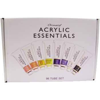 Chroma Chromacryl® Acrylic Essentials Paint Tube Set, Assorted, 96/PK