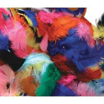 Creativity Street® Feather Assortment, Hot Colors, 125/PK